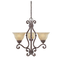 Designers Fountain Del Mar 3 Light Chandelier in Warm Pecan 97783-WP