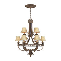 Designers Fountain Carlisle 9 Light Chandelier in Venetian Bronze-Gold 97889-VBG