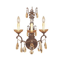 Designers Fountain Bollo 3 Light Wall Sconce in Venetian Bronze 98303-VBR