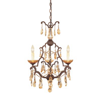 Bollo 3 Light 19 inch Venetian Bronze Chandelier Ceiling Light