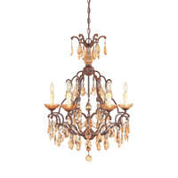 Bollo 6 Light 23 inch Venetian Bronze Chandelier Ceiling Light