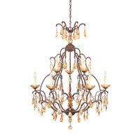 Designers Fountain Bollo 9 Light Chandelier in Venetian Bronze 98389-VBR