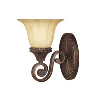 Designers Fountain Astor Manor 1 Light Wall Sconce in Burnt Umber 98701-BU