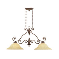 Designers Fountain Astor Manor 2 Light Island Pendant in Burnt Umber 98738-BU
