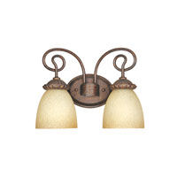 Designers Fountain Belaire 2 Light Bath Bar in Aged Umber Bronze 99302-AUB