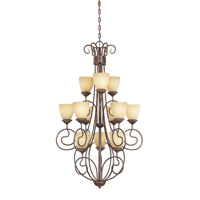 Belaire 12 Light 28 inch Aged Umber Bronze Chandelier Ceiling Light