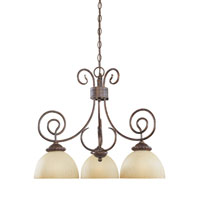 Designers Fountain Belaire 3 Light Chandelier in Aged Umber Bronze 99384-AUB