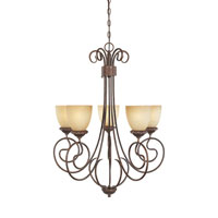 Designers Fountain Belaire 5 Light Chandelier in Aged Umber Bronze 99385-AUB
