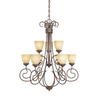 Belaire 9 Light 32 inch Aged Umber Bronze Chandelier Ceiling Light