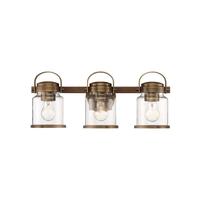 Designers Fountain D200M-3B-OSB Easton 3 Light 21 inch Old Satin Brass Bath Bar Wall Light