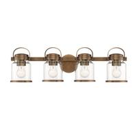 Designers Fountain D200M-4B-OSB Easton 4 Light 29 inch Old Satin Brass Bath Bar Wall Light