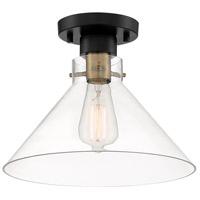 Designers Fountain D204M-SF-MB Willow Creek 1 Light 12 inch Matte Black Semi-Flush Ceiling Light
