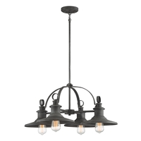 Designers Fountain D207M-4CH-WP Aurora 4 Light 28 inch Weathered Pewter Chandelier Ceiling Light