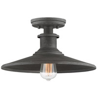 Designers Fountain D207M-SF-WP Aurora 1 Light 14 inch Weathered Pewter Semi-Flush Ceiling Light