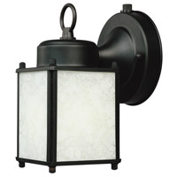 Basic 1 Light 8 inch Black Outdoor Wall Lantern in White