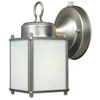 Basic 1 Light 8 inch Pewter Outdoor Wall Lantern in White