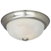Lunar 3 Light 15 inch Satin Platinum Flushmount Ceiling Light