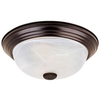 Lunar 2 Light 13 inch Oil Rubbed Bronze Flushmount Ceiling Light
