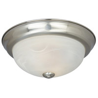 Lunar 2 Light 13 inch Satin Platinum Flushmount Ceiling Light
