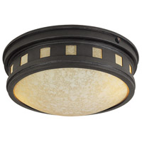 Sedona 1 Light 13 inch Oil Rubbed Bronze Outdoor Flushmount
