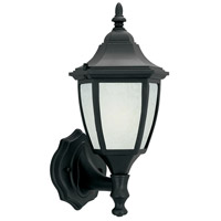 Designers Fountain Signature Cast Aluminum 1 Light Outdoor Wall Lantern in Black ES2462-GL-BK