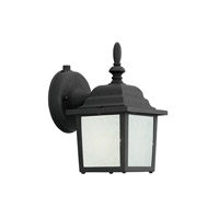 Designers Fountain Signature Cast Aluminum 1 Light Outdoor Wall Lantern in Black ES2861-GL-BK