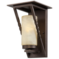 Designers Fountain Parkview 1 Light Outdoor Wall Lantern in Flemish Bronze ES31921-FBZ