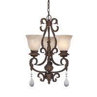 Designers Fountain San Mateo 3 Light Chandelier in Ancient Oak ES91403-AO