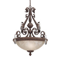 Designers Fountain San Mateo 1 Light Pendant in Ancient Oak ES91405-AO