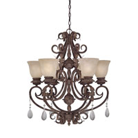 Designers Fountain San Mateo 6 Light Chandelier in Ancient Oak ES91406-AO