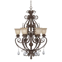 Designers Fountain San Mateo 6 Light Chandelier in Ancient Oak ES9146-AO