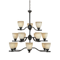 Designers Fountain Apollo 15 Light Chandelier in Oil Rubbed Bronze ES940815-ORB