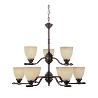 Designers Fountain Apollo 9 Light Chandelier in Oil Rubbed Bronze ES94089-ORB photo thumbnail