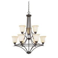 Montego 9 Light 29 inch Oil Rubbed Bronze Chandelier Ceiling Light