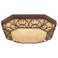 Designers Fountain Amherst 2 Light Flush Mount in Burnt Umber ES97522-BU