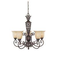 Designers Fountain Amherst 5 Light Chandelier in Burnt Umber ES97585-BU