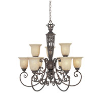 Designers Fountain Amherst 9 Light Chandelier in Burnt Umber ES97589-BU
