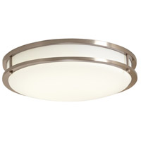 Designers Fountain EV1410LED-BN DF Pro Plus 10 inch Brushed Nickel Flush Mount Ceiling Light in Brushed Nickel/White 10 in. 4000K