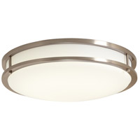 Designers Fountain EV1412LED-BN DF Pro Plus 12 inch Brushed Nickel Flush Mount Ceiling Light in Brushed Nickel/White 4000K 12 in.