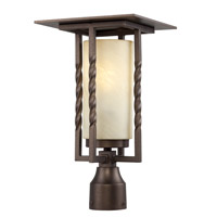 Parkview 1 Light 16 inch Flemish Bronze Outdoor Post Lantern