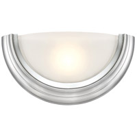 Designers Fountain Saturn 1 Light Wall Sconce in Brushed Nickel LED15009-35
