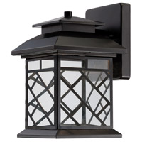 Woodmere LED 10 inch Oil Rubbed Bronze Outdoor Wall Lantern