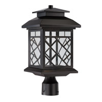 Woodmere LED 17 inch Oil Rubbed Bronze Outdoor Post Lantern