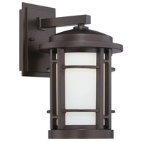 Designers Fountain Barrister 9-inch LED Outdoor Wall Lantern in Burnished Bronze LED22431-BNB