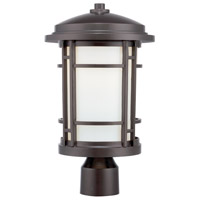 Designers Fountain Barrister 9-inch LED Post Lantern in Burnished Bronze LED22436-BNB