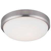 Designers Fountain Lucas 1 Light Flush Mount in Satin Platinum LED304M-SP