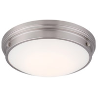 Galley LED 13 inch Satin Platinum Flushmount Ceiling Light
