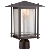 Hadley LED 15 inch Burnished Bronze Outdoor Post Lantern