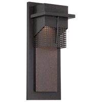 Beacon LED 15 inch Burnished Bronze Outdoor Wall Lantern