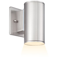 Designers Fountain LED33001-SP Barrow LED 6 inch Satin Platinum Outdoor Wall Lantern